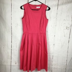 Calvin Klein Pink Fit And Flare Dress size 4